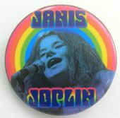 Janis Joplin - 'Rainbow' 32mm Badge